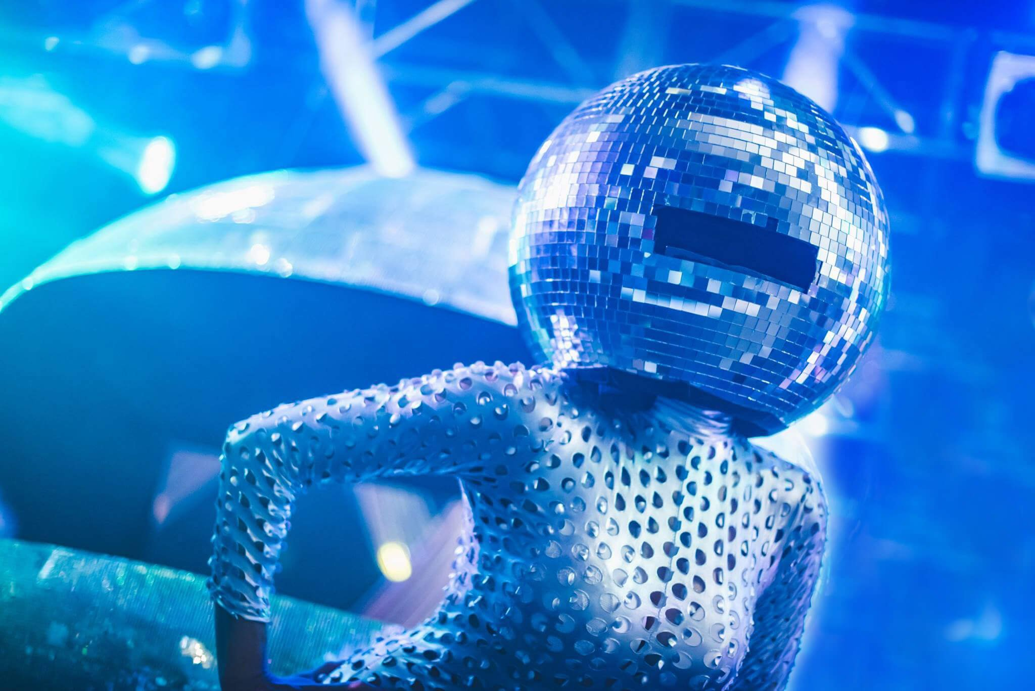 disco ball head for website